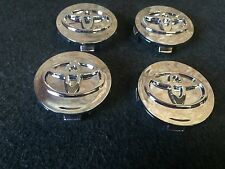 NEW TOYOTA SET OF 4 CENTER WHEEL WHEELS HUB HUBS CAP RIM RIMS 62MM CHROME MIRROR
