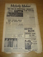 MELODY MAKER 1948 NOVEMBER 6 ROY FOX GEORGE SHEARING ELLA FITZGERALD +