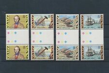 LN89416 St Helena expedition Charles Darwin gutter pairs MNH