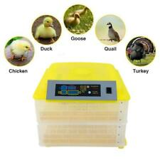 Digital Clear Egg Incubator Hatcher Turning Temperature Control Automatic 112Egg