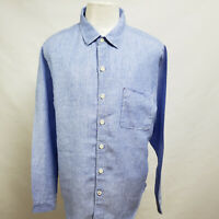 TOMMY BAHAMA MEN'S LINEN RELAXED FIT LONG SLEEVE CASUAL SHIRT SIZE L A29-01