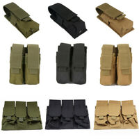 9mm Magazine Pouch Close Holster 600D Tactical Molle Dual Triple Pistol Mag Bag