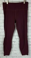 ATHLETA Womens' Burgundy Cropped Athletic Pants Size Large