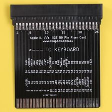 Apple ][ II Plus //e IIe IIGS Expansion Riser Card For Testing and Diganostics