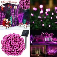 200 light solar power panel led outdoor waterproof Christmas fairy string lights