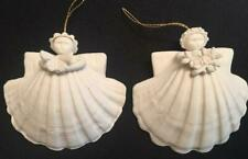 Margaret Furlong 1988 Retired Angel Seashell Ornaments Holiday Christmas Gift
