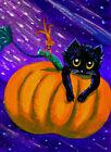 Fall+Art+Black+Cat+Mouse+Pumpkin+Space+Mini++ACEO+Painting+Print+Creationarts
