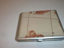 Vintage  Original Cigarette Case, Cigarette Box  - Geographical map
