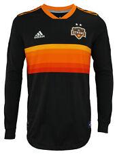 adidas MLS Men's Houston Dynamo Authentic Long Sleeve Jersey, Black