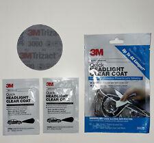 3MQuick Headlight Clear Coat UV Protection Car Anti-Fogging Lens Restoration Kit