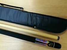 Powerglide Psychedelic 2 Piece Classic Pool Cue Soft Case Inc