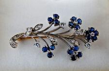 Tiffany & Co. Palladium & Sapphire Flower Bouquet Pin