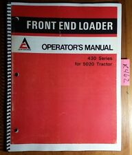 Allis-Chalmers 430 Series Front End Loader for 5020 Tractor Operator's Manual 77