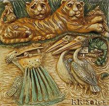 Tiger Pelican Bay New Decorative Tile Harmony Kingdom Noah's Park Hk Picturesque
