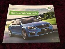 Skoda Octavia Brochure 2013 - UK Issue, 08/13 inc S, SE, Elegance, vRS
