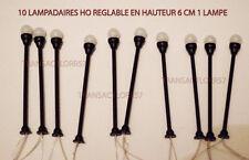 JOUEF LIMA ROCO LOT DE 10 LAMPADAIRES LED HO 1/87 1 LAMPES NEUF DECO