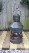 "Large 27"" Antique Nautical Masthead Copper & Brass Ship Lantern Lamp~Birmingham"