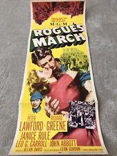 Rogue's March (1953) Original US Insert Cinema Poster