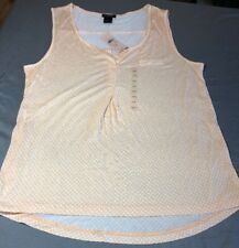 Ann Taylor Sleeveless Blouse New Nwt Cute Large Petite LP Retail $39.99