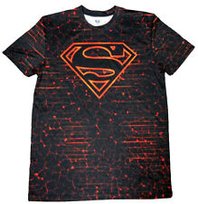 New MENS Dc Comic SUPERMAN Athletic COMPRESSION tight fit TEE T-SHIRT- MED