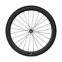 700C 60mm ClincherTubular Straight Pull Carbon Road Bike Wheels Bicycle Wheelset