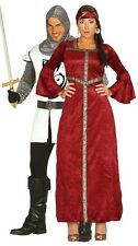 Couples Ladies & Mens Medieval Knight Princess Fancy Dress Costumes Outfits