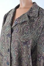 Sag Harbor Womens Multi-Color Paisley Button Down Sweater Jacket size 16 NWT