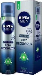 Nivea Men Fresh Protect Deodorizer Energy Body Spray - For Men - 120 ML