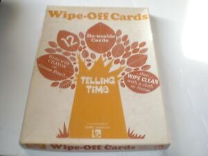 Trend Enterprises Wipe-Off Cards Telling Time Re-usable Cards in Original Box