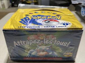 Pokemon Base Set Booster Box Factory 1st Edition French EMPTY Artwork