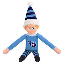 "Tennessee Titans Plush Christmas Elf [NEW] NFL 9.5"" Doll Shelf Stuffed Toy"