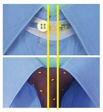 """12-Pk SHIRT/TIE Collar Button Extender 17"""" NECK BUT 16½"""" SHIRT? Adds ½"""" (1.5cm)"""