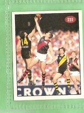 1996 AFL SELECT  STICKER #231 ESSENDON & RICHMOND, 1995 FINALS SERIES HIGHLIGHTS