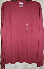 NWT Levi's Long sleeve Crew thermal Tee shirt mens Red L + Beanie