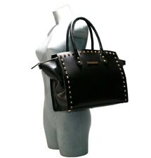 Cristiano Pompeo shopping satchel bag pyramid studded gold leather taupe special
