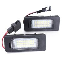 2x License Number Plate LED Light Lamp for Audi A4 A5 Q5 S5 TT 08-13 Error  R1S6