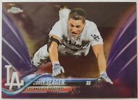 2018 TOPPS CHROME * COREY SEAGER #/299 PURPLE REFRACTOR NLCS MVP! WS?? DODGERS!