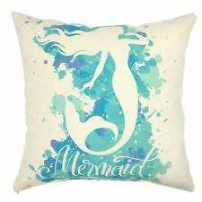 YOUR SMILE Mermaid Cotton Linen Square Home Decorative Throw Pillow Case Cushion
