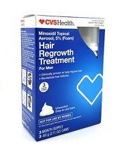 CVS Hair Regrowth Men 5% Minoxidil Topical Foam 3 month - GUARANTEED FRESH!