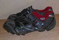 Shimano MD88 Mens Cycling Shoes Black Hook  Loop Ratchet Strap EU Size 44 us 9.7