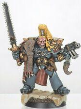 Warhammer 40k Space Wolves Ragnar Blackmane Wolf Lord Metal OOP