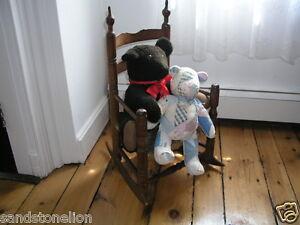 Rare Antique Bergen County Hackensack, N.J. Child's Rocking Chair Circa 1790's