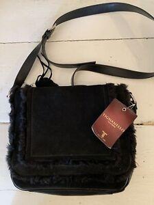 NWT $139 Black Tignanello Leather Purse Hand Bag
