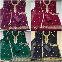 Salwar Kameez Suit Pakistani Indian Shalwar Casual Dress Chiffon Designer Cotton