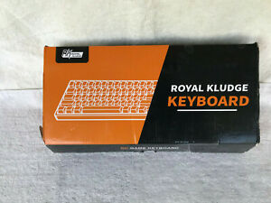 ROYAL KLUDGE WHITE RK61 Dual Mode Blue Switch Keyboard Ice Blue Backlight