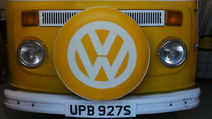 Madmatz Quality Volkswagen VW T2 BAY Window Spare Wheel cover Sunburst off white