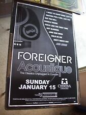 FOREIGNER UNPLUGGED   PHX   LIVE  CONCERT POSTER 17 X 11  BOXING STYLE