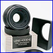 ZENZA BRONICA ZENZANON MC 75mm f2.8 medium format 6x6 hood lens mf ETR ETRS