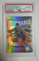 2019 Panini Prizm RUSSELL WESTBROOK SILVER GEM Mint PSA 10 card HOUSTON ROCKETS