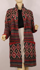 Ralph Lauren Denim and Supply Cardigan Sweater Coat Womens Large Brown Wool New